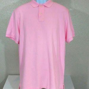Pink Men's J.crew polo short sleeve shirt